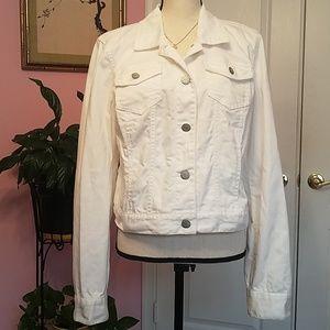 Aeropostale white denim jacket XL
